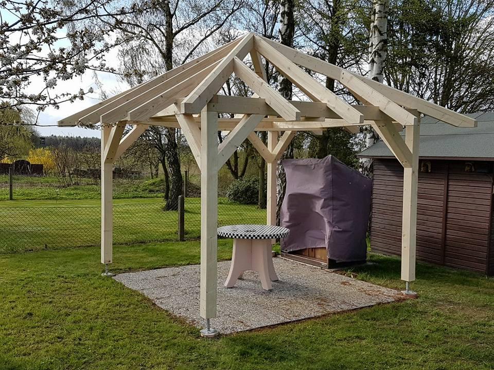 pavillon 3 3 meter holzbau h bener. Black Bedroom Furniture Sets. Home Design Ideas